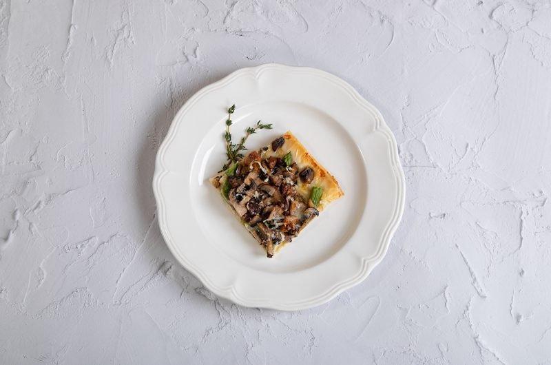 Mushroom Asparagus Tart