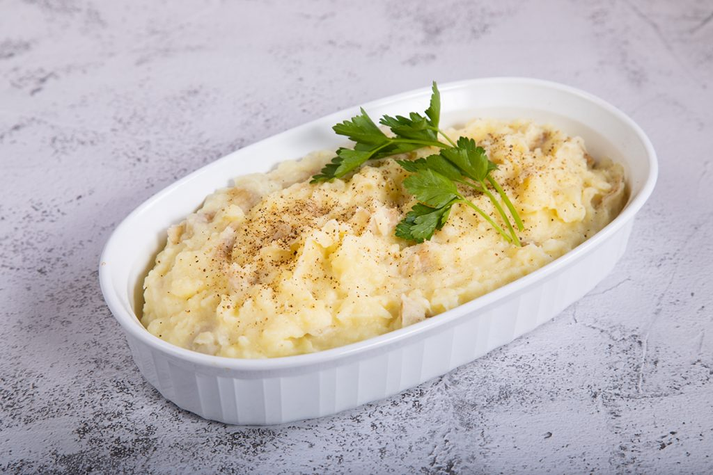 mashed potatoes with parsley