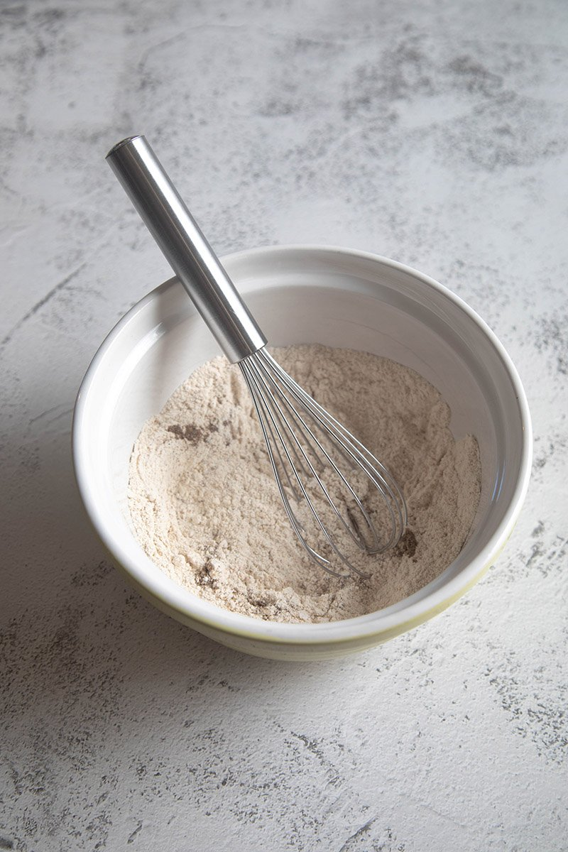 whisk solid ingredients