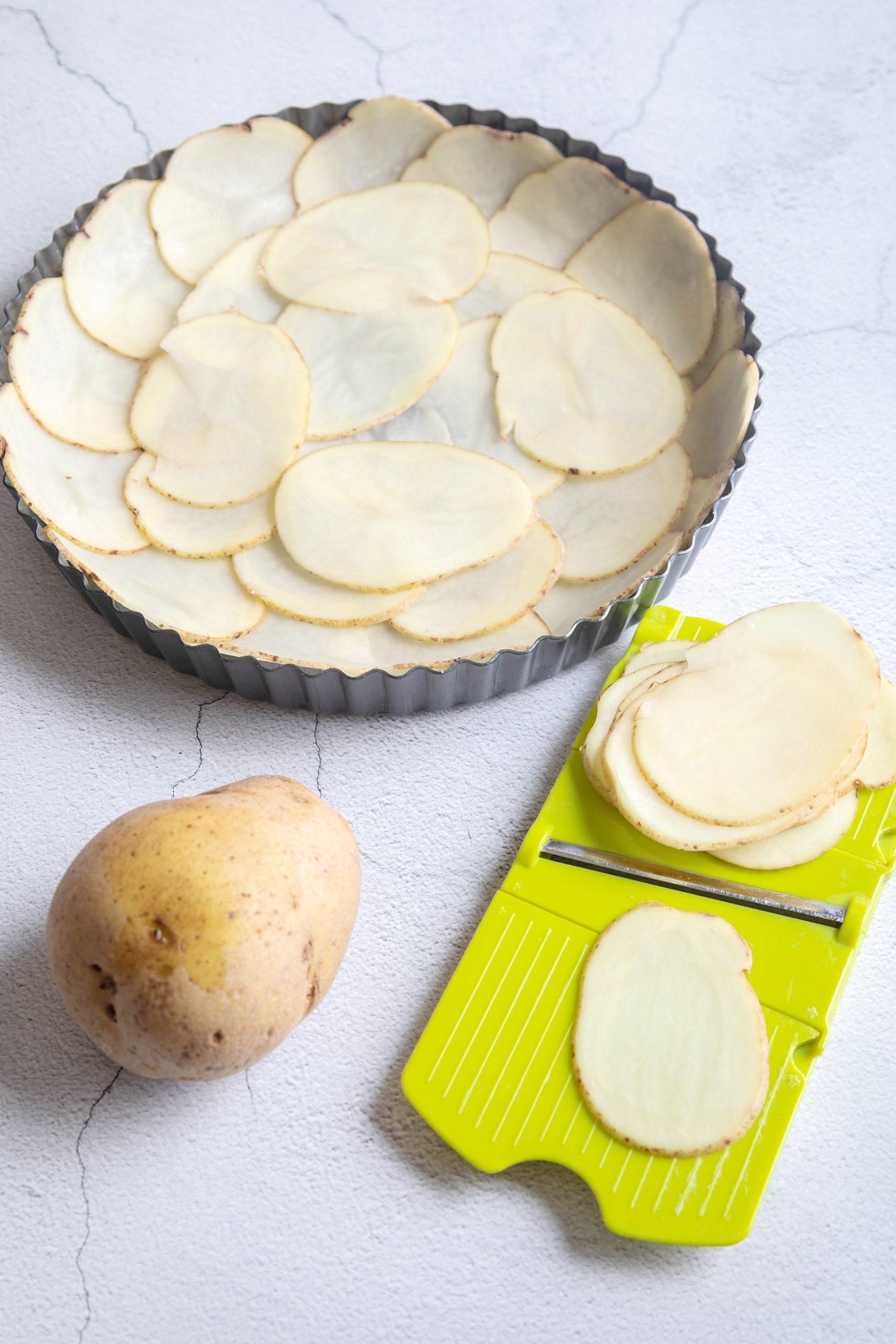 The potato crust - quiche