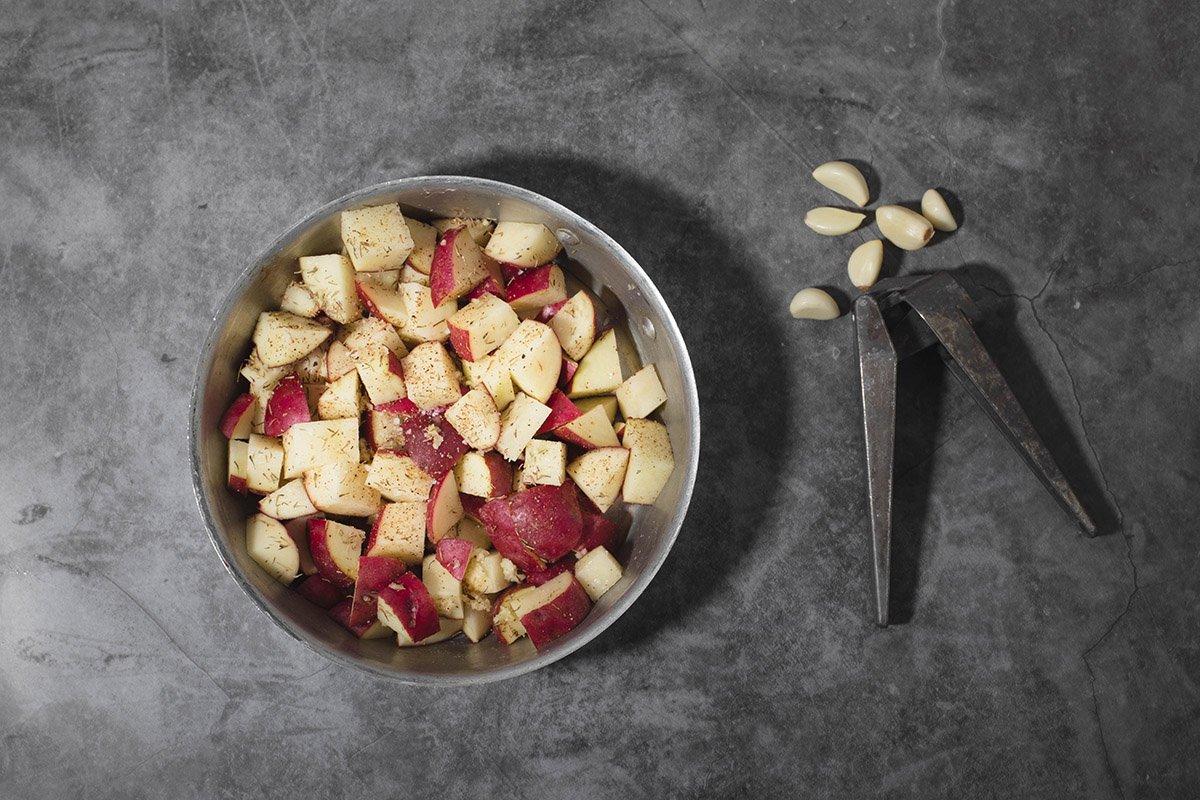 red potatoes chopped