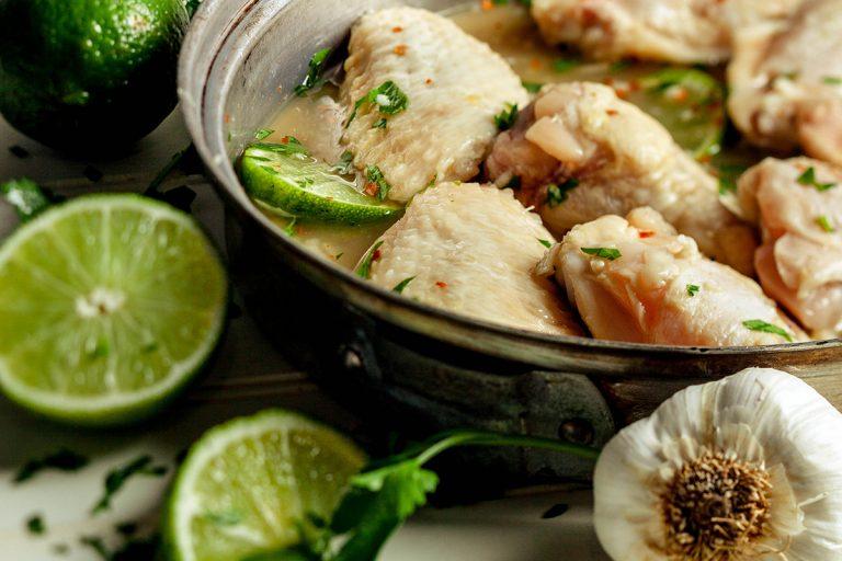 marinating garlic lime chicken wings
