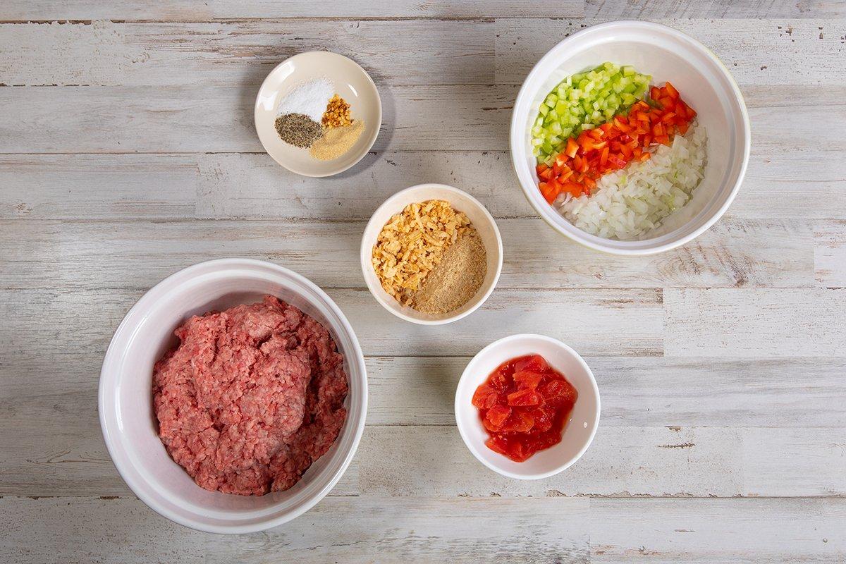 Eggless Meatloaf ingredients