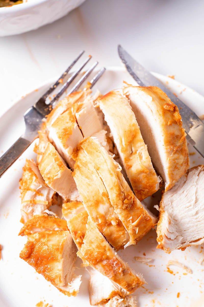 slice chicken breasts