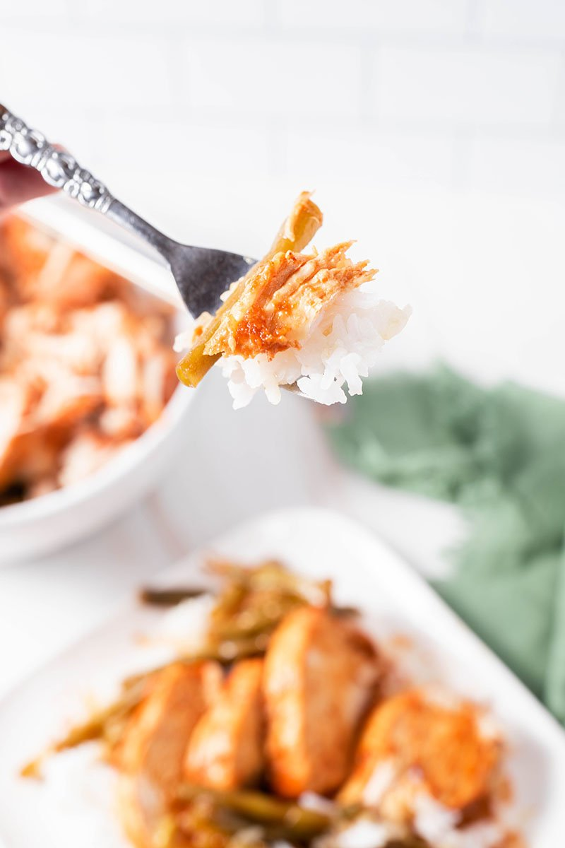 bite of spicy chicken