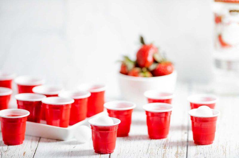 The Best Strawberry Jello Shots