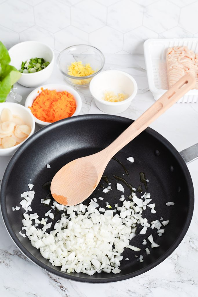 sautee onions for copycat pf chang lettuce wraps