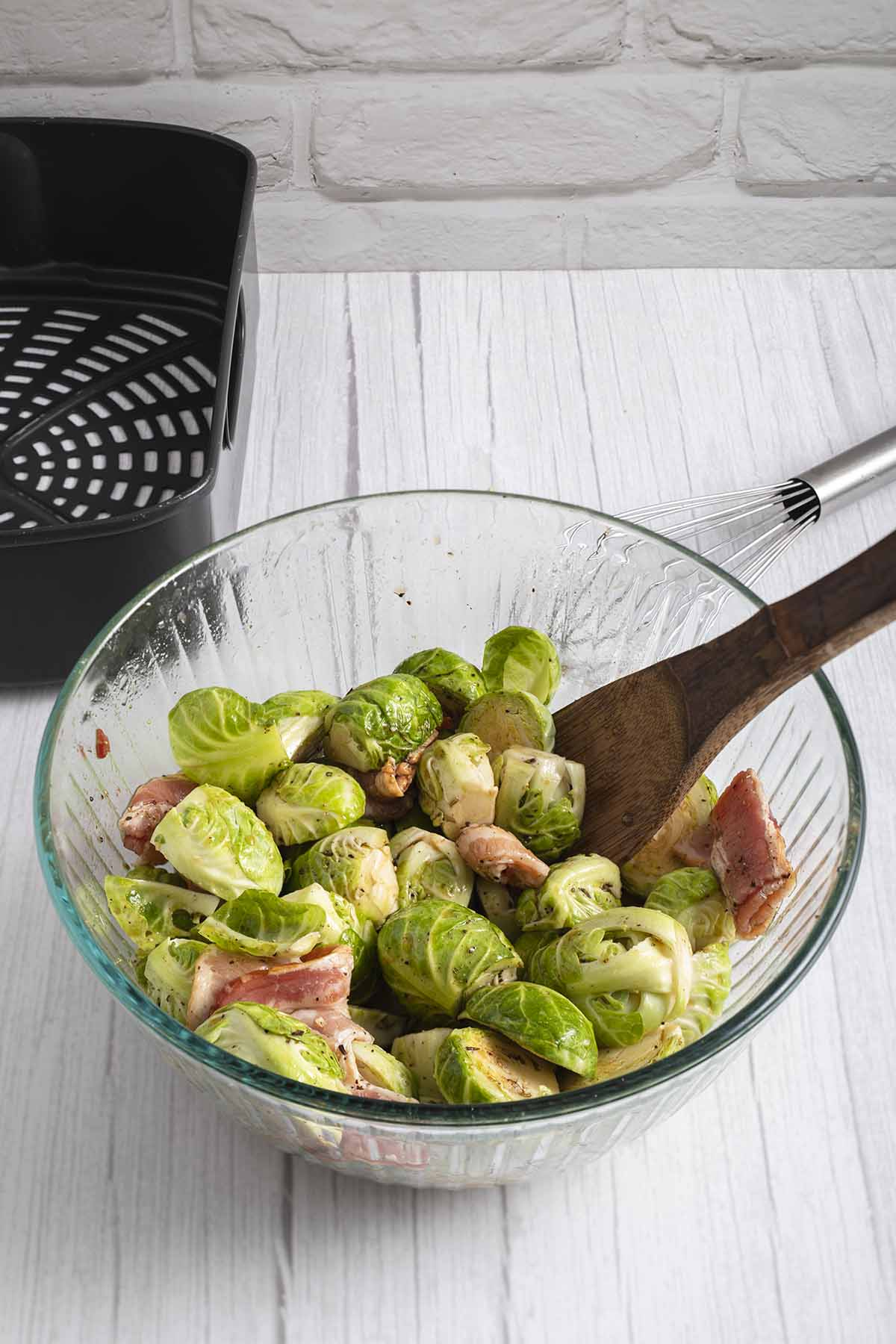 toss Brussels sprouts with brown sugar mix