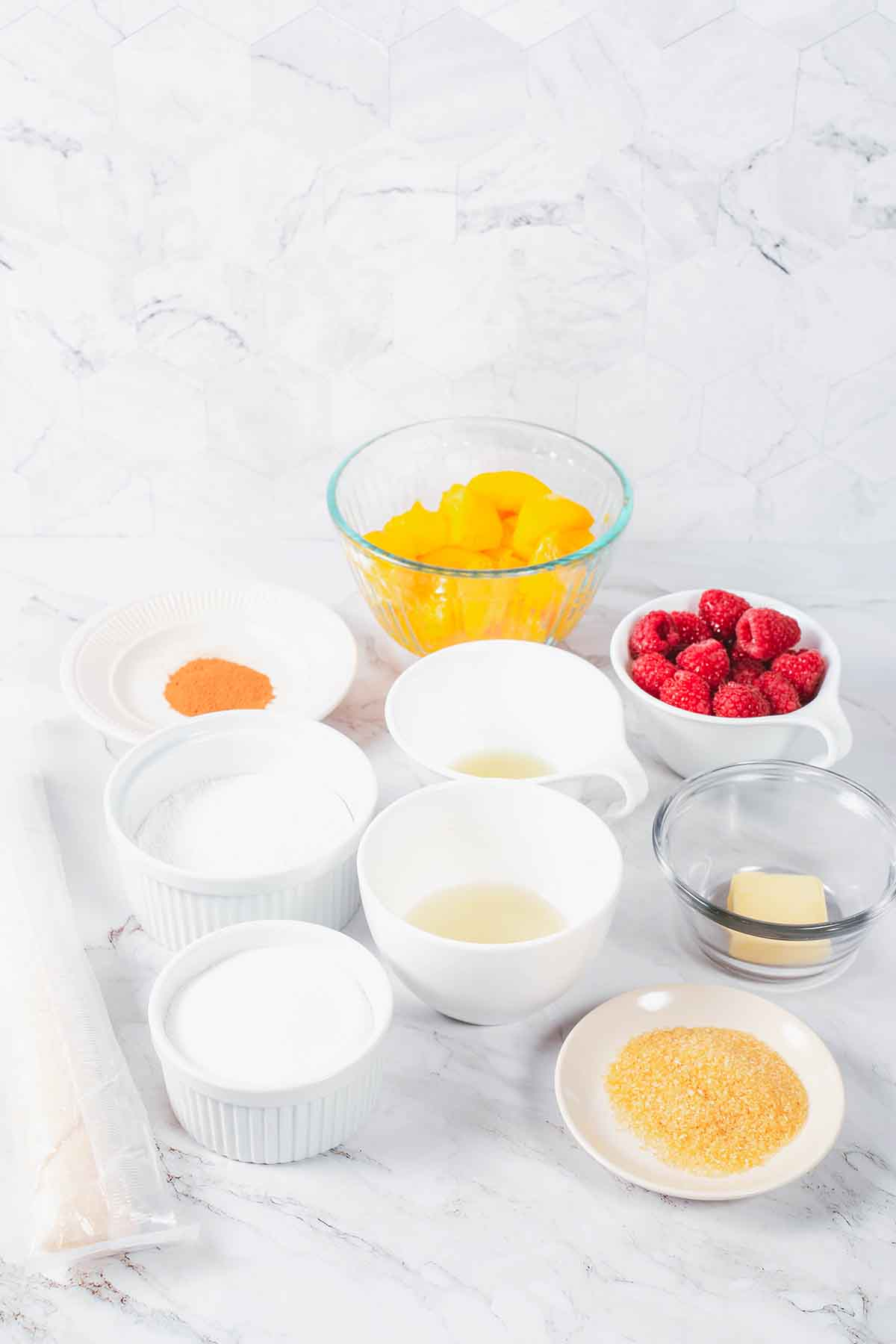 raspberry peach crostata ingredients