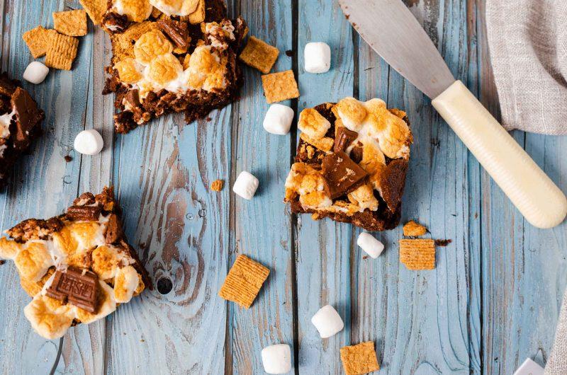 Air Fryer S'mores Brownies