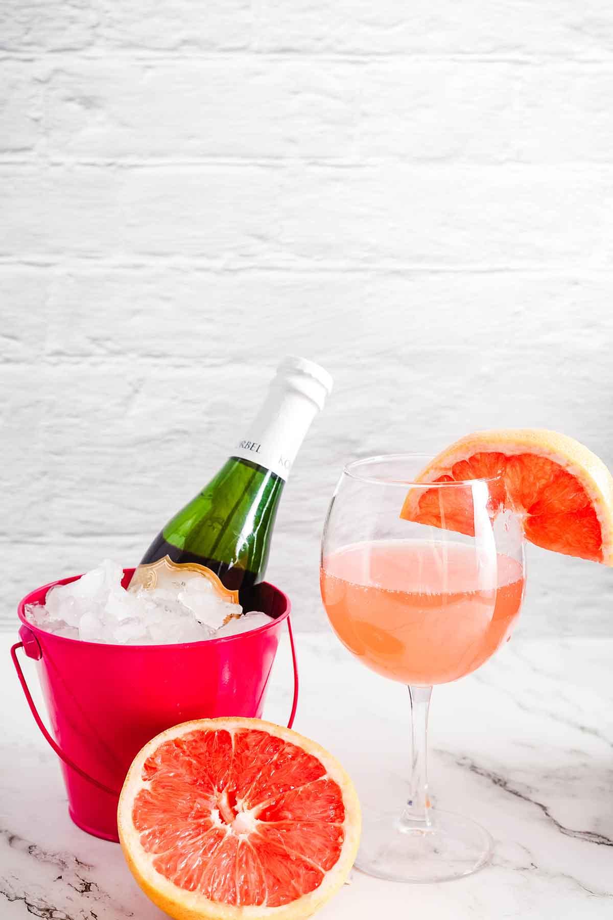 Pink Grapefruit Mimosa