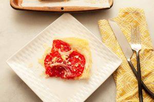 the best tomato phyllo tart