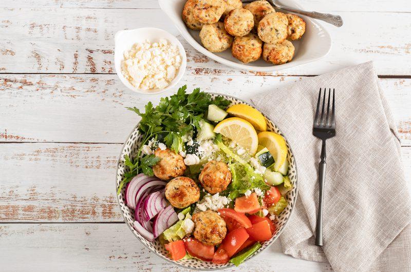 Greek-Style Air Fryer Chicken Meatballs